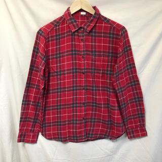 ジーユー(GU)のジーユー チェックシャツ ネルシャツ Lサイズ(シャツ/ブラウス(長袖/七分))