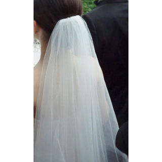 ヴェラウォン(Vera Wang)のギャザーありベール 80×120(ウェディングドレス)
