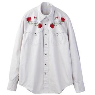 ジョンローレンスサリバン(JOHN LAWRENCE SULLIVAN)の18AW完売品 新品未使用ジョン ローレンス サリバン薔薇刺繍ウエスタン シャツ(シャツ)