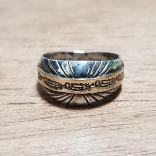インディアンジュエリー ナバホ リング フェザー サンバースト シルバー 15号(リング(指輪))