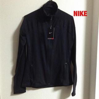 ナイキ(NIKE)の新品タグ付き NIKE レディーススポーツジャケット 黒 XL(ウォーキング)