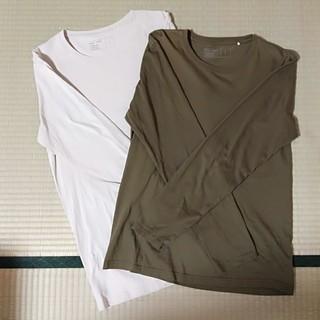 ジーユー(GU)のTシャツ2枚セット(Tシャツ/カットソー(七分/長袖))
