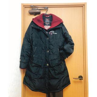ZARA - ブラック ニットフード付きダウンジャケット
