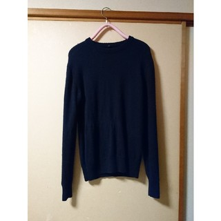 ムジルシリョウヒン(MUJI (無印良品))の無印良品 クルーネックセーター ネイビー(ニット/セーター)