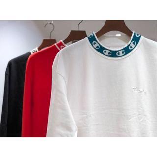 チャンピオン(Champion)のchampion モックネックロングスリーブTシャツ Mサイズ(Tシャツ/カットソー(七分/長袖))