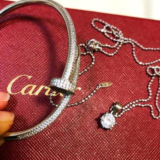 カルティエ(Cartier)の高品質☆オーダー人口ダイヤ 釘 ジュスト ブレスレット&2カラット人口ダイヤ(ブレスレット/バングル)