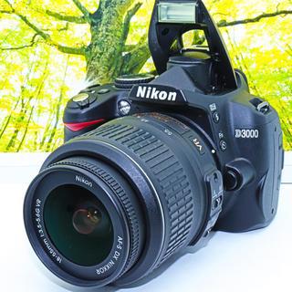 ★Wi-FiSDカード付★ニコン D3000 簡単 カメラ 一眼レフ 卒業式(デジタル一眼)
