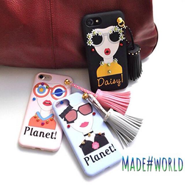 iphone6ケース 花柄 ガーリー | タッセル スタッズ iPhoneケース インスタ SNS ガーリー かわいいの通販 by made_world's shop|ラクマ