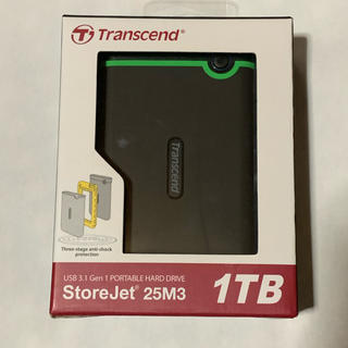 トランセンド(Transcend)のHDD 1TB 耐衝撃(PC周辺機器)