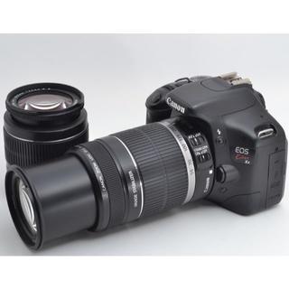キヤノン(Canon)の❤大人気一眼レフ♪WiFiカード付き❤CANON Kiss X4 ダブルズーム(デジタル一眼)
