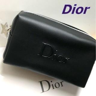 Dior - Dior シルバースター × ブラック ソフトレザー風 コスメポーチ ポーチ