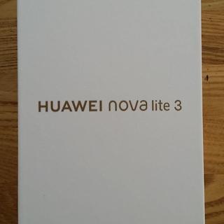 新品☆Huawei nova lite3 レッド SIMフリー☆保証あり(スマートフォン本体)