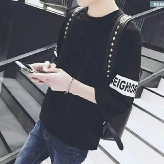 【処分★】最新 韓国 最新 黒 bigbang EXILE 冬# (Tシャツ/カットソー(七分/長袖))