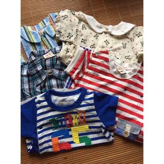 美品!男の子 夏物ロンパース 5枚セット 50 60 70  まとめ売り  (カバーオール)