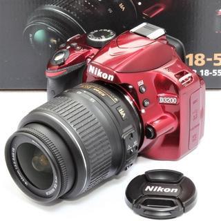 ニコン(Nikon)の★ショット数わずか5938回★ ニコン D3200 レッド手振れ補正(デジタル一眼)