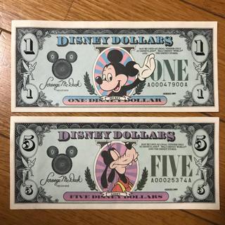 Disney - ディズニーdollar 2枚セット