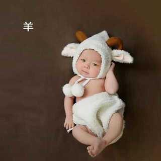 【羊】 ハロウィンベビー用 赤ちゃん 衣装 仮装 コスチューム(その他)