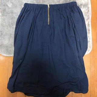 シマムラ(しまむら)の大きいサイズ  ネイビースカート  4L(ロングスカート)