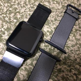 アップルウォッチ(Apple Watch)のApple Watch スペースグレイ ステンレス 42mmモデル(腕時計(デジタル))