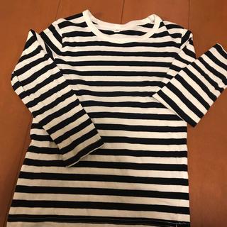 ムジルシリョウヒン(MUJI (無印良品))の無印良品 120センチ ボーダー長袖(Tシャツ/カットソー)