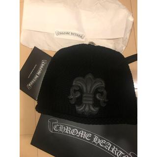 クロムハーツ(Chrome Hearts)のCHROMEHEARTS フレアレザーパッチ キャップ クロムハーツ ニット帽(ニット帽/ビーニー)
