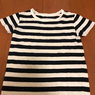 ムジルシリョウヒン(MUJI (無印良品))の無印良品 ボーダー 110センチ 半袖(Tシャツ/カットソー)