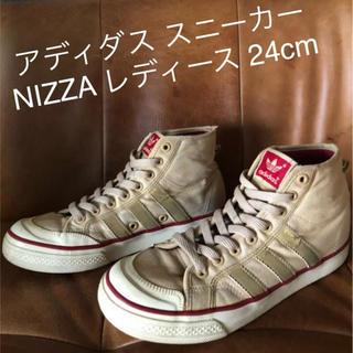 アディダス(adidas)のアディダス ハイカットスニーカー NIZZA レディース 24cm(スニーカー)