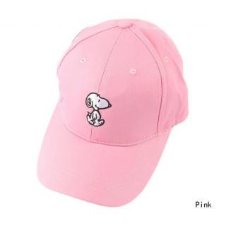 snoopy 刺繍 キャップ 帽子 メンズ  レディース ローキャップ ピンク