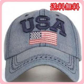 新品未使用♡ USA デニムキャップ ブルー フリーサイズ