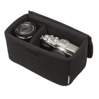 カメラバッグ インナーソフトボックス 200 ブラック 取り外し可能なフタ付き