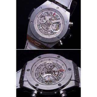 ウブロ(HUBLOT)のささ様専用 BIG UNICO SS ホワイトダイヤル クロノフル稼働 自動巻(腕時計(アナログ))