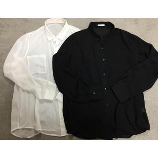 ジーユー(GU)のgu  シースルーブラウス   2枚セット XL(シャツ/ブラウス(長袖/七分))
