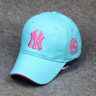 新品 NY ヤンキース キャップ 帽子 ライトブルー 男女兼用 コスプレ