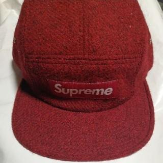 supreme  12a/w harris tweed camp cap