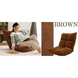 ブラウン/座椅子/低反発/もっちり/42段階調整/コンパクト