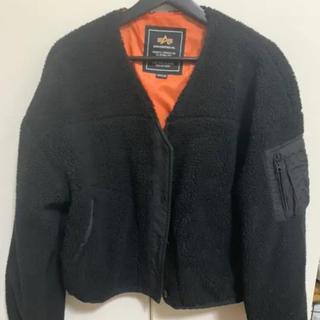 アルファインダストリーズ(ALPHA INDUSTRIES)のALPHA アルファ ボア ブルゾン コート ジャケット(ブルゾン)