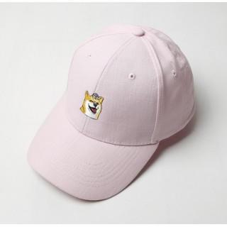 柴犬 刺繍 ロゴ キャップ 帽子  ローキャップ ピンク