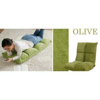 オリーブ/座椅子/低反発/もっちり/42段階調整/コンパクト