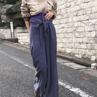 Ameri WAIST LAYERED WIDE PANTS