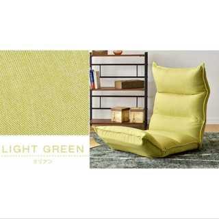 ライトグリーン/ダリアン/座椅子/低反発/リクライニング/3点可動