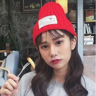 カップル ニット帽 赤色 ニット帽冬 レッド あったか かわいい 防寒