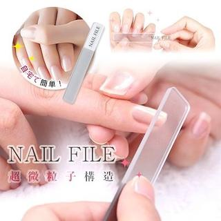 ガラス製 爪磨き/爪やすり【保管ケース付】