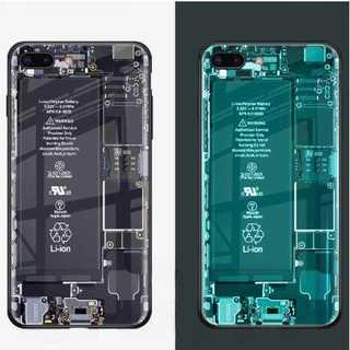 スマホケース スケルトン 基板 iPhoneXS キラキラ 蛍光 ソフト 耐衝撃