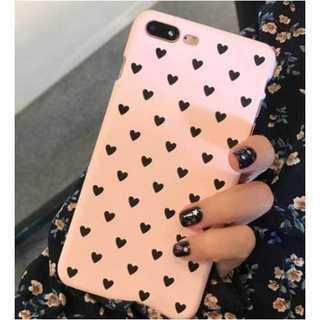 iPhone7 スマホケース ハート ピンク