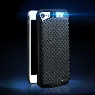 ライト付 全3色 iPhone6/6s/7 用 バッテリー内蔵ケース