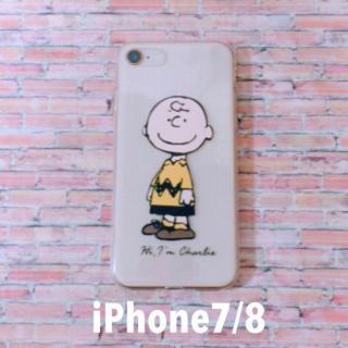 単品☆iPhone7/8☆シリコン【チャーリーブラウン】クリア