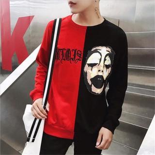 注目商品! ロングTシャツ ロンT 長袖Tシャツ メンズ ピエロ レッド M