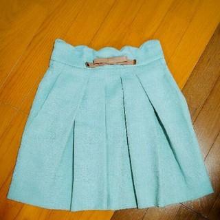 ミッシュマッシュ リボン ミント 色 スカート