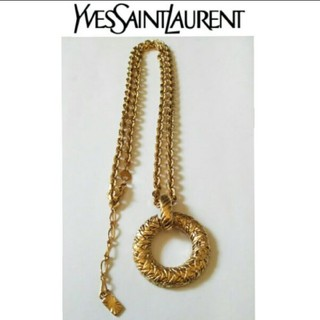 ■ イヴサンローラン ヴィンテージ アンティーク ゴールド ネックレス 刻印あり