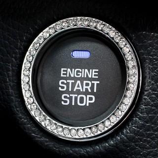 エンジン プッシュ リング シルバー(車内アクセサリ)